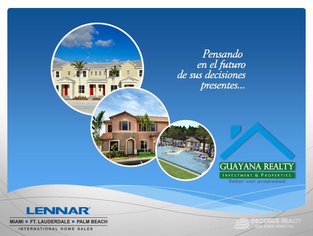 Asesoria internacional - Guayana Realty - Soñar Con Propiedad